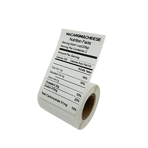 PUQULABEL Self-adhesive Multi-Purpose Label Compatible For PUQU Q Series Label Printer-1 Roll of 180 Labels 50x80mm - 180 Series Oil