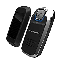 Avantree Bluetooth Car Kit with Solar Charging for Handsfree Call, GPS and Music, Wireless Visor Speakerphone, Connect Two Phones - Sunday Plus