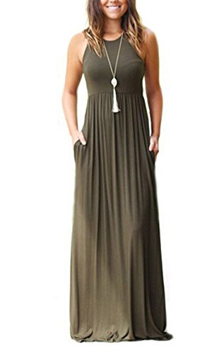 Women's Sleeveless Long Floor Length Vest Maxi Slim Beach (Halter Womens Maxi Dress)