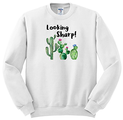 Anne Marie Baugh - Quotes - Funny Ironic Looking Sharp Watercolor Cactus  Quote - Sweatshirts - Youth Sweatshirt Large(14-16) (SS_263624_12)