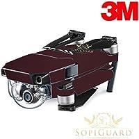 SopiGuard 3M Gloss Black Rose Precision Edge-to-Edge Coverage Vinyl Skin Controller Battery Wrap for DJI Mavic Pro