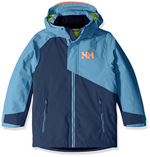 Helly Hansen Juniors & Kids Cascade Waterproof Insulated Ski Coat Jacket, 603 North Sea Blue, Size 10