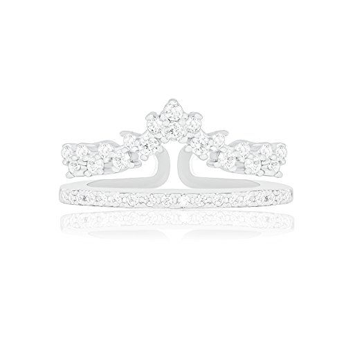 18k White Gold Plated Princess