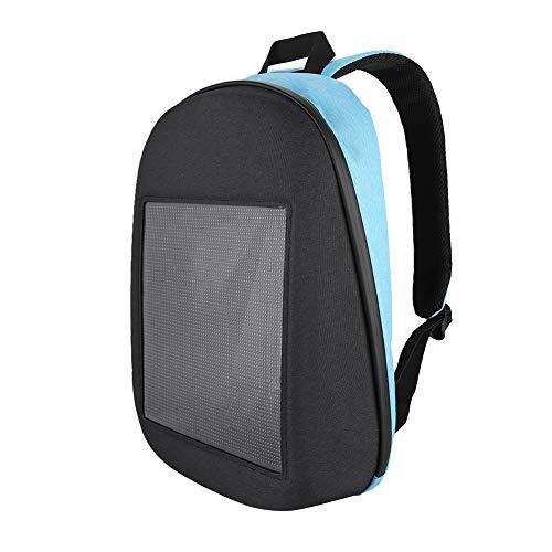 - fosa WiFi Advertising Backpack Waterproof LED Dynamic Backpack Portable Lightweight Walking Advertising Screen Laptop Tablet Bag for Boys Girls Men Gift for Christmas Birthday(Blue)