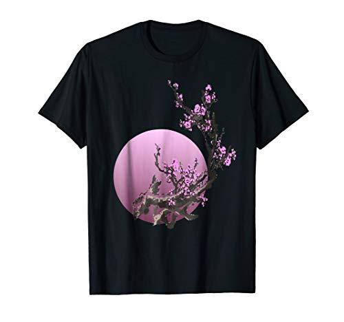 pink moon Sakura Flowers japanese cherry blossom t shirt