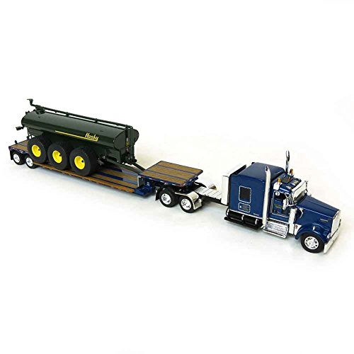 Die Cast Promotions (DCP) 1/64 Blue Kenworth W900 Pulling Husky Tank on Double Drop ()