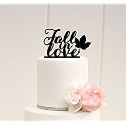 Fall Wedding Cake Topper Fall in Love Cake Topper Fall Wedding Autumn Wedding 0033