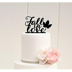 Fall Wedding Cake Topper Fall in Love Cake Topper Fall Wedding Autumn Wedding 0033