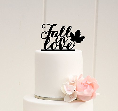 Fall Wedding Cake Topper Fall in Love Cake Topper Fall Wedding Autumn Wedding 0033 ()