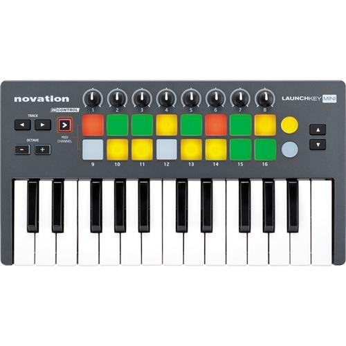 Novation Launchkey 25-Key Mini Compact Instrument and USB MIDI Controller Keyboard for iPad, Mac and PC