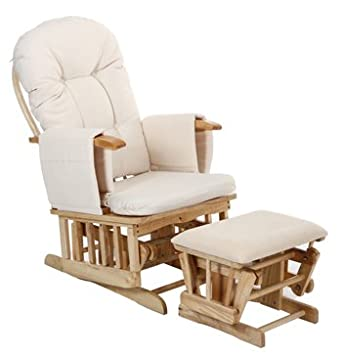 deluxe recliner glider nursing nursery feeding chair u0026 stool cream - Nursing Chair