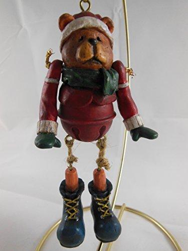 (Russ Berrie The Christmas Sampler Ornament Bear Hand Painted)