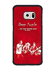 Galaxy S6 Edge Funda Case Band Deep Purple Solid [Anti-Slip] Customized Impact Resistant Ultra Slim Compatible with Samsung Galaxy S6 Edge (Suit for S6 Edge)