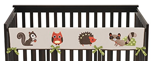 Friends Crib Cover - Sweet Jojo Designs Forest Friends Long Front Rail Guard Baby Boy Teething Cover Protector Crib Wrap