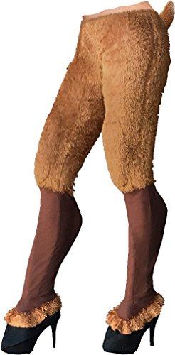 Forum Novelties Women's Faun Pants & Shoe Covers, Brown, One Size -