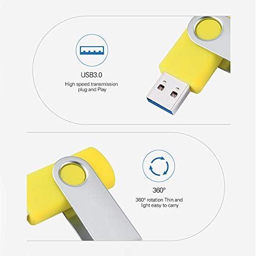 RONSHIN USB3.0 Flash Drive Large Capacity USB Stick High Speed USB Drive White 64GB