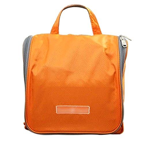 AFfeco Travel Organizer Large Cosmetic Storage Orange Bag Wash Hanging nwZpqBnC