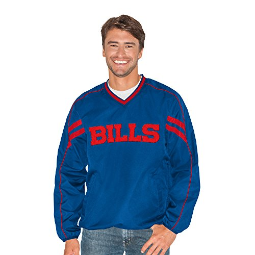 G-III Sports by Carl Banks Adult Men Red Zone V-Neck Pullover, Royal, 4X