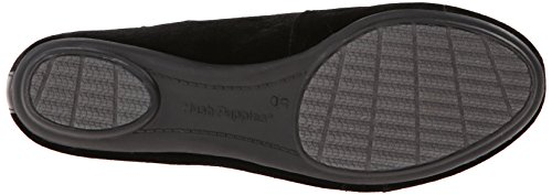 Hush Puppies Womens Flossie Chaste Flat Shoe Black Velvet gGnrC