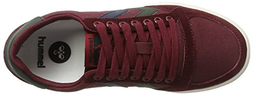 Hummel basse Duo Slimmer Low adulti Red Canvas Cabernet Stadil Sneakers per rYrqw6E