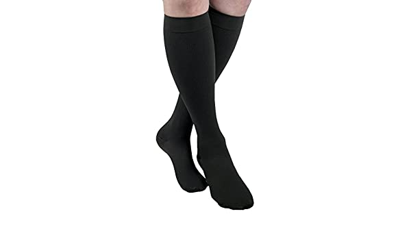 Amazon.com: MAXAR Mens Trouser Support Socks (23-30 mmHg) Black, 2X-Large: Health & Personal Care