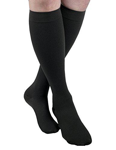 MAXAR Men's Trouser Support Socks (20-22 mmHg) Black, Medium ()