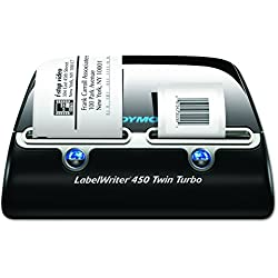 DYMO Label Writer 450 Twin Turbo label printer, 71 Labels Per Minute, Black/Silver (1752266)