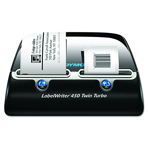 Barcode Labeling Software (DYMO Label Writer 450 Twin Turbo label printer, 71 Labels Per Minute, Black/Silver (1752266))