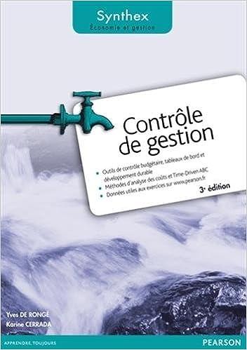 Lire un Contrôle de Gestion 3e édition Synthex pdf ebook