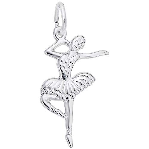 Rembrandt Charms, Ballet Dancer.925 Sterling Silver, Engravable