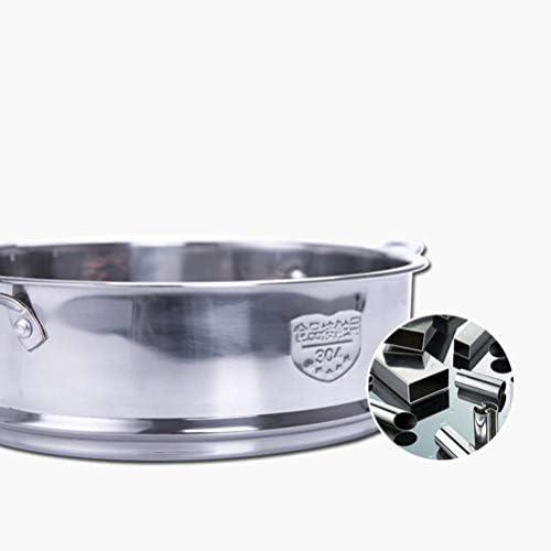 418p7hbdl7L. AC DOITOOL Stainless Steel Steamer Pot Vegetable Food Steamer Basket Insert Kitchen Saucepot Dim Sum Dumplings Bun Steamer 18cm     Description