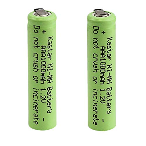 2x Exell 1.2V NIMH AAA 800mAh Rechargeable Batteries w/Tabs use with electric razors toothbrushes high power static applications (Telecoms UPS and Smart grid) electric tools electric mopeds USA SHIP