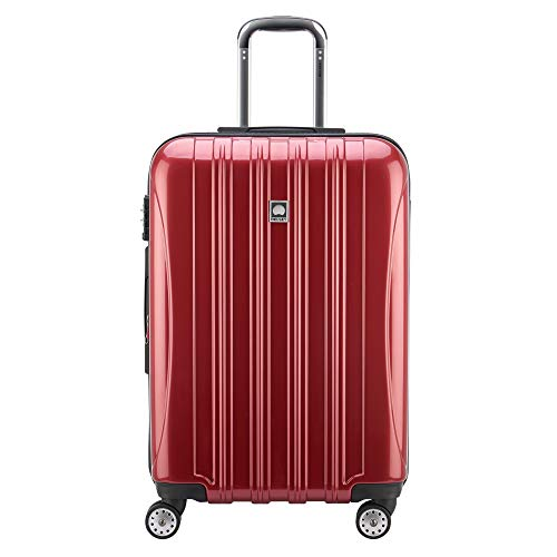 DELSEY Paris Luggage Helium Aero 25' Expandable Spinner Trolley, Brick Red