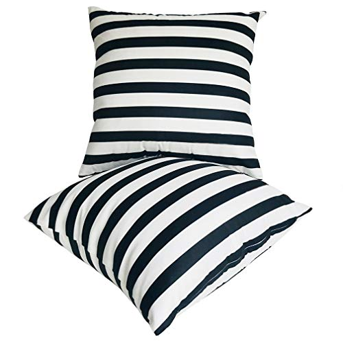 U-LOVE 2Pack Black & White Striped Pillow Covers Morden Simple Life, Super Soft