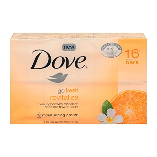Dove Go Fresh Revitalize 4 oz bars Total 16 count