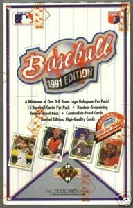 1991 Upper Deck Low Series Baseball Card Unopened Hobby Box