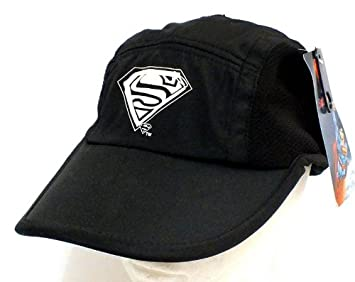 a7b0f6531 Amazon.com: SUPERMAN MAN OF STEEL BLACK HAT LOGO BASEBALL CAP CHILD ...