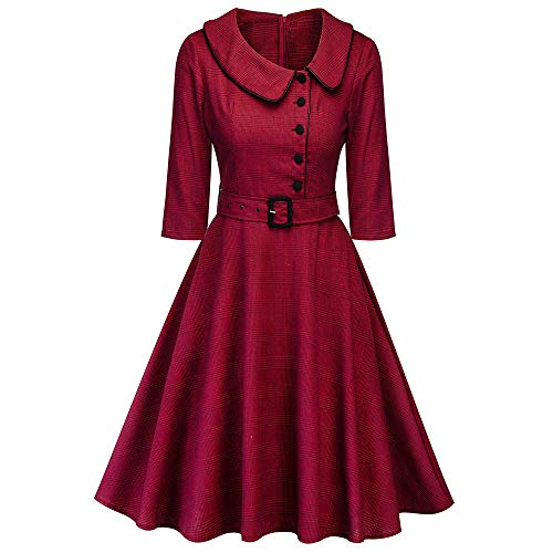 Peter Pan Collar Plaid Vintage Dress for sale  Delivered anywhere in USA