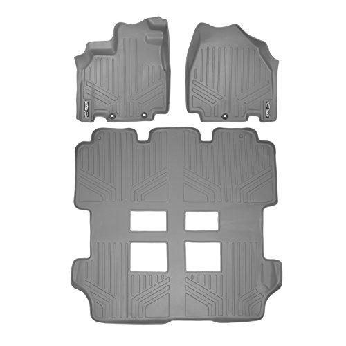 SMARTLINER Floor Mats 3 Row Liner Set Grey for 2011-2017 Honda Odyssey