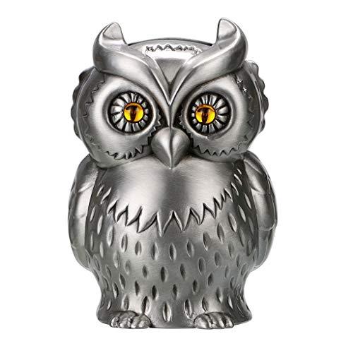 (Hipiwe Vintage Metal Owl Piggy Bank, Kids Money Saving Box Coin Can Holder Gift for Boys and Girls, Creative Home Furnishing Owl Ornament Art Decor )