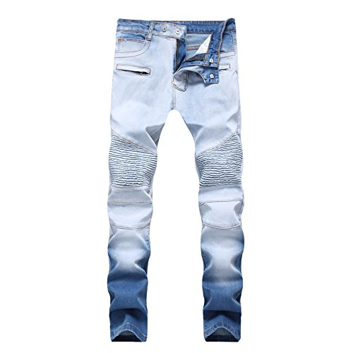 light blue colored jeans - 9