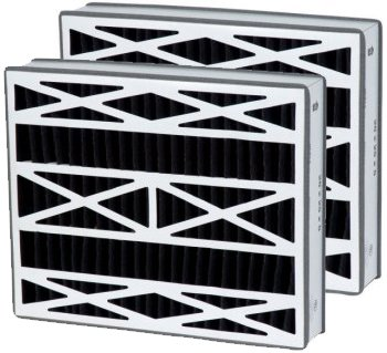 16x25x3 (15.75x24.25) Carbon Odor Block Trion Air Bear Replacement Filter 2 Pack
