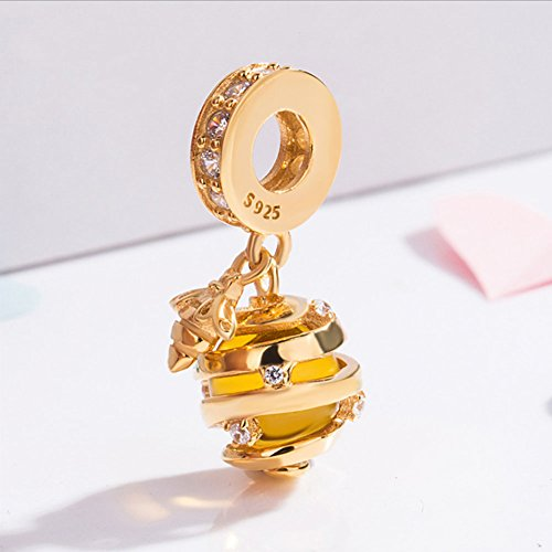 38e37db44 Queen Bee Charm 925 Sterling Silver Animal Charm Lucky Charm Birthday Charm  for Pandora Charm Bracelet