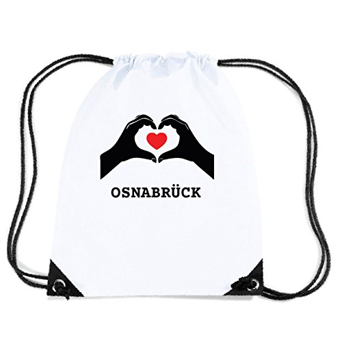JOllify OSNABRÜCK Turnbeutel Tasche GYM973 Design: Hände Herz