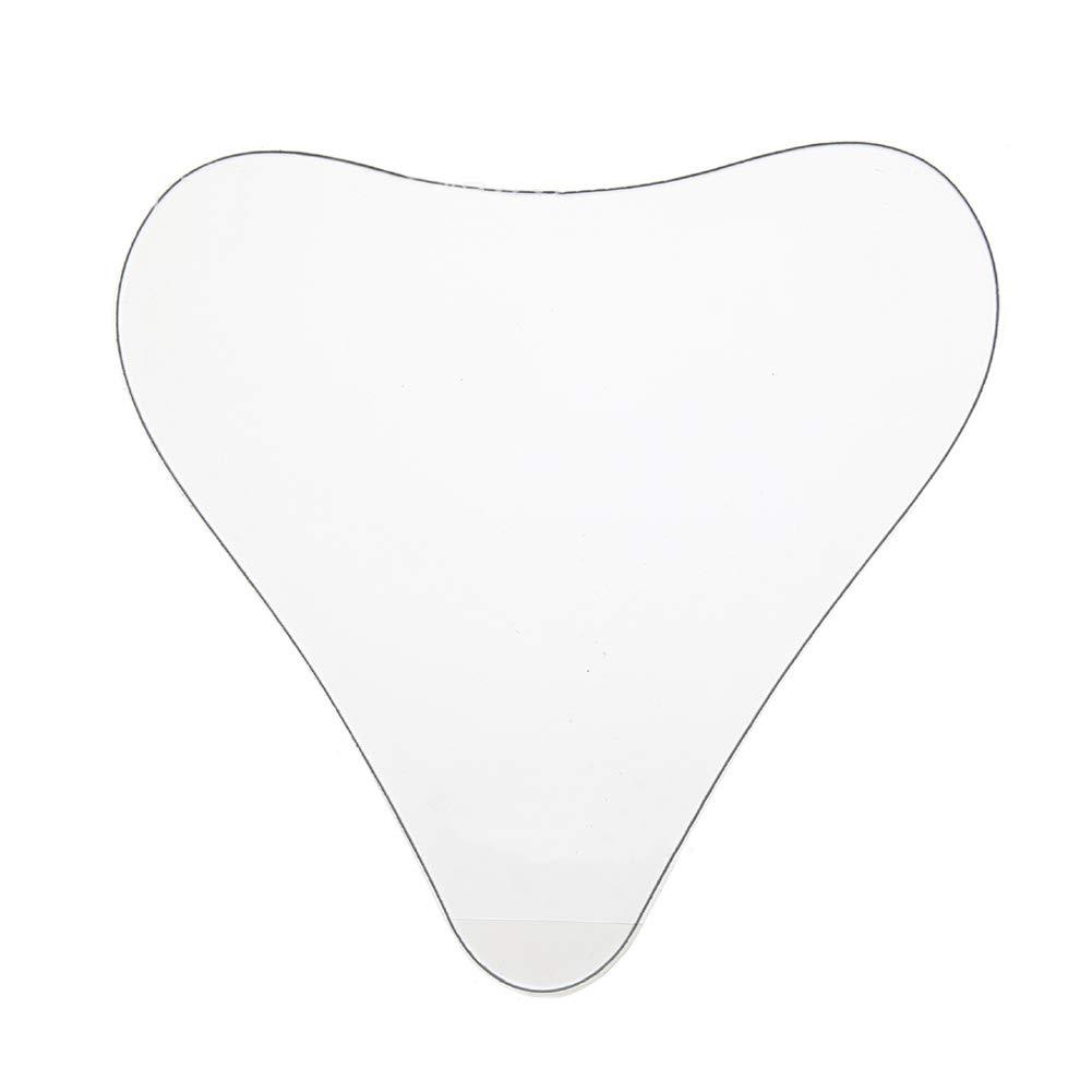 Tempshop Anti-arrugas pecho Pad silicona transparente reutilizable cojín anti-arrugas almohadilla en forma de corazón pasta de pecho
