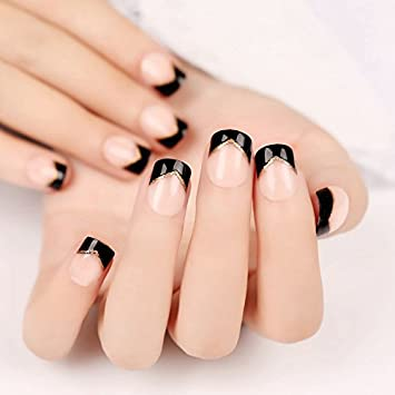 Amazon Coolnail Nail Art Supplies Products Black Angle French