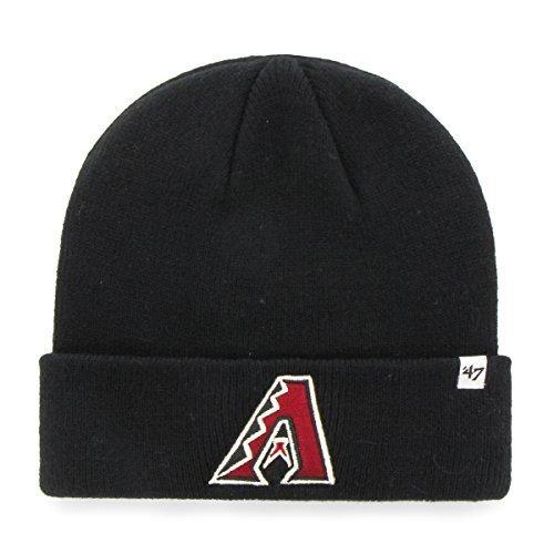 fan products of MLB Arizona Diamondbacks 47 Raised Cuff Knit Beanie, One Size, Black