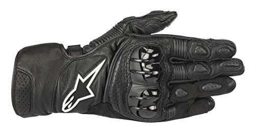 Alpinestars SP-2 v2 Leather Motorcycle Riding Glove (XL, Black) (Motorcycle Race Gloves)