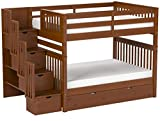 Bedz King Stairway Bunk Beds Full over Full with 4