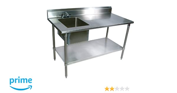 Amazon.com: John Boos EPT6R5-3060GSK-L Stainless Steel Prep Table ...
